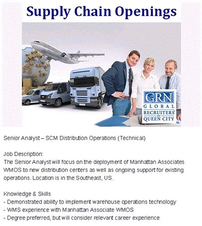 53 best Supply Chain Management - Career Opportunities images on - supply chain management job description
