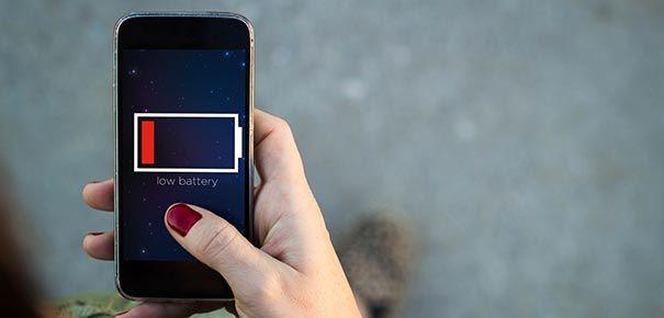 Une panne de batterie sur son smartphone