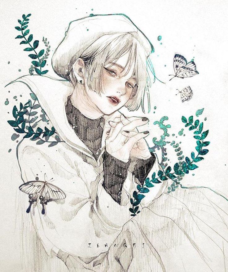 내가 얼마나 더 외로워져야 그대 사랑을 내 것이라 할 수 있나  #170105#이랑#irangbi#유안진#내가얼마나더외로워져야#시#나뭇잎#나비#일러스트#그림#leaf#butterfly#poem#pencil#photoshop#draw#drawing#illust#illustration#art