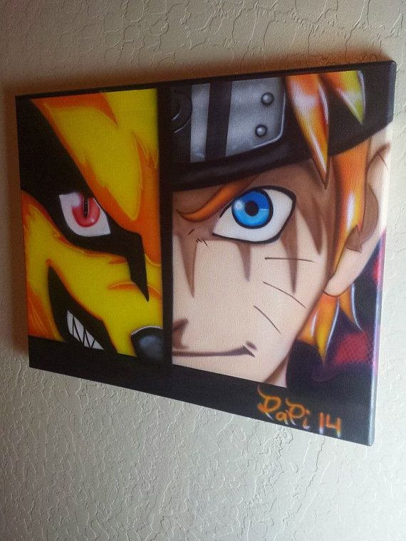 Naruto canvas all airbrushed if you want one by ...
