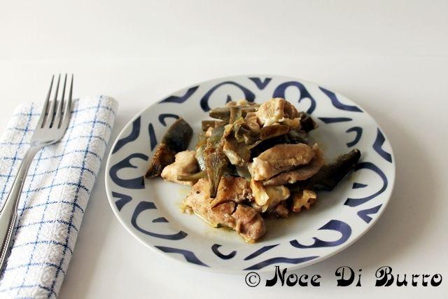 Straccetti petto di pollo con carciofi e noci, ricetta Noce Di Burro