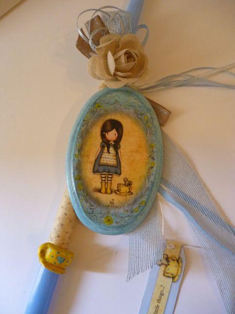 Irene & Nicki Crafts:       Gorjuss Santoro Girl Easter Candle ...