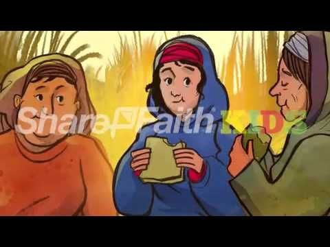 Ruth and Naomi Bible Video For Kids: This sweeping story follows two women, Ruth and Naomi, as they experience tragedy and then travel to Naomi's homeland of Israel. It isn't long before they see mighty hand of God change their fortunes through a man named Boaz! This powerful kids Bible video takes the the story of Naomi and Ruth and brings it vividly to life through one of a kind illustrations and professional narration.