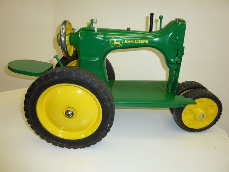 John deere tractor made from an antique sewing machine for Tractor art projects