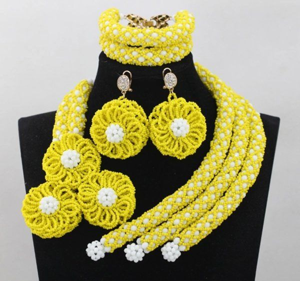 AF1200 African Nigerian Beads necklace set