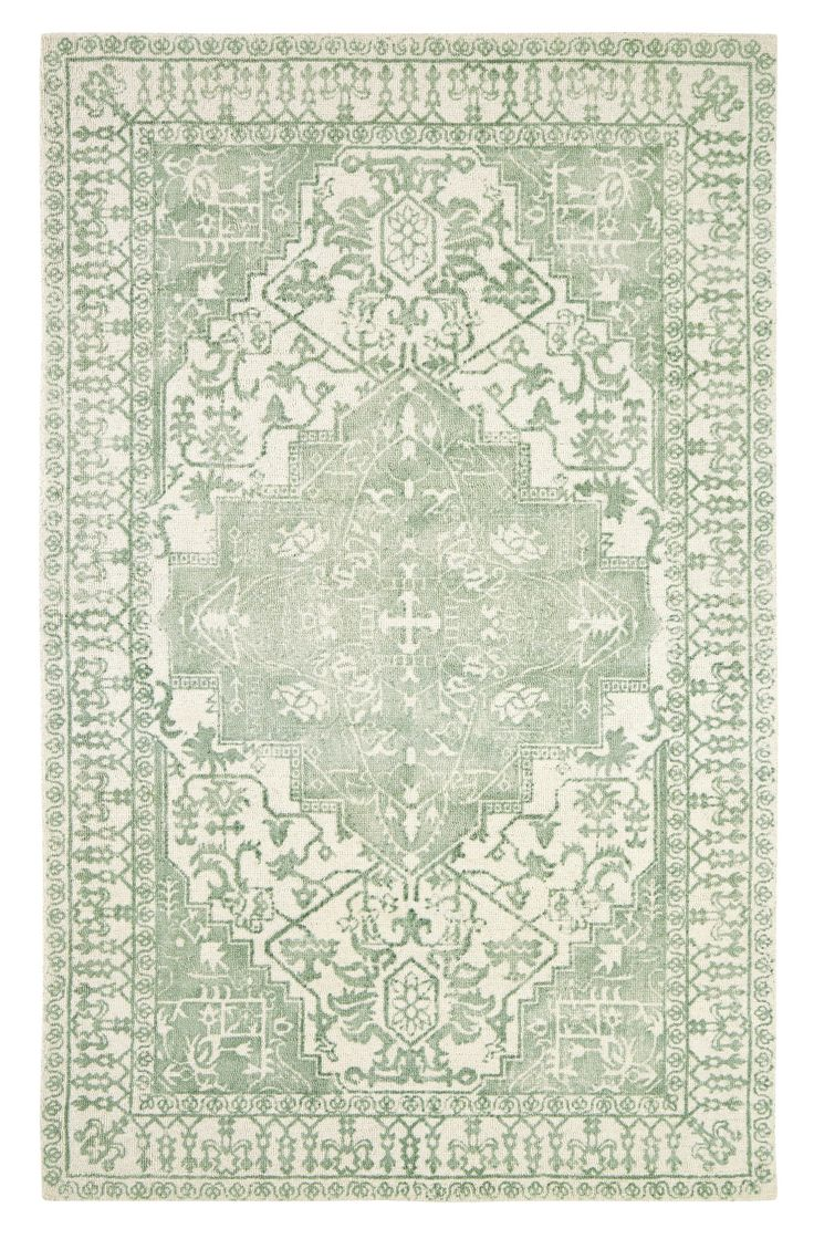 Dynamic Rugs Milan Mint Distressed Rectangle Area Rug