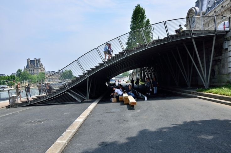 escalier musee orsay berge seine La Rive gauche de la Seine est désormais ouverte aux piétons : reportage photos