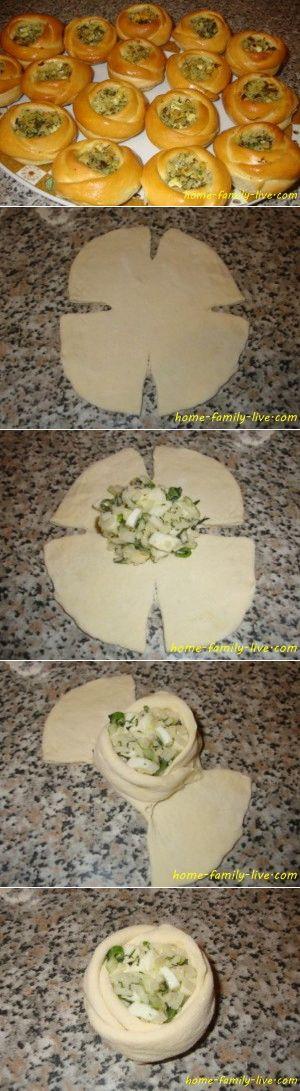 Булочки с начинкой/Сайт с пошаговыми рецептами с фото для тех кто любит готовить