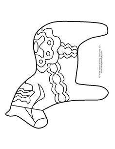 Dala Horse template