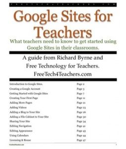 Google Sites GUIDE for Teachers 2012