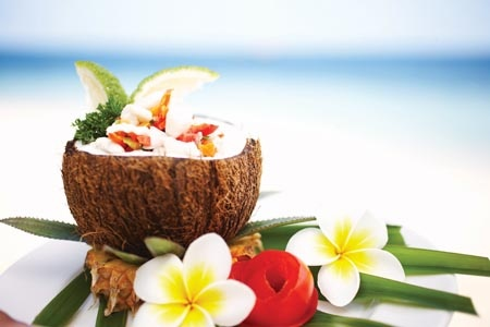 Jam packed #coconut goodness! Castaway Island, #Fiji