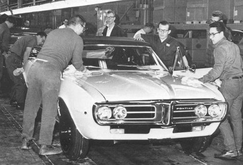 The first Firebird coming off the production line.  My 68 Firebird was the love of my life.