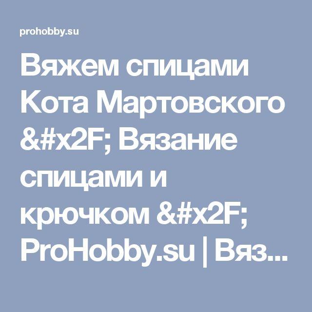 Вяжем спицами Кота Мартовского / Вязание спицами и крючком / ProHobby.su   Вязание спицами и крючком для начинающих, схемы вязания, вязание с описанием