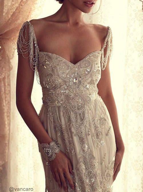 Beautiful White Beaded Dress