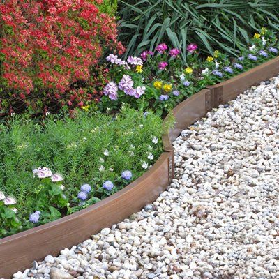 Scenery solutions lek cir composite wood undulating garden for Raised border edging