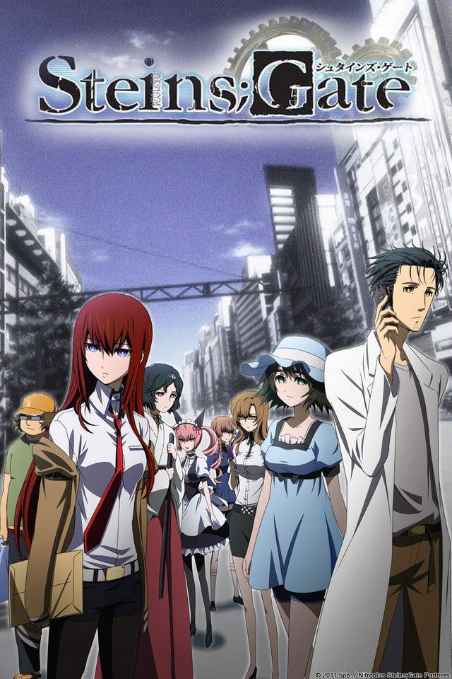 I fully recommend watching Steins; Gate!  Starts a bit slowly, but it's definitely worth watching and the story gets really good!  An English dub is being released soon, but I love the original voices, especially mad scientist Hououin Kyouma's  :3