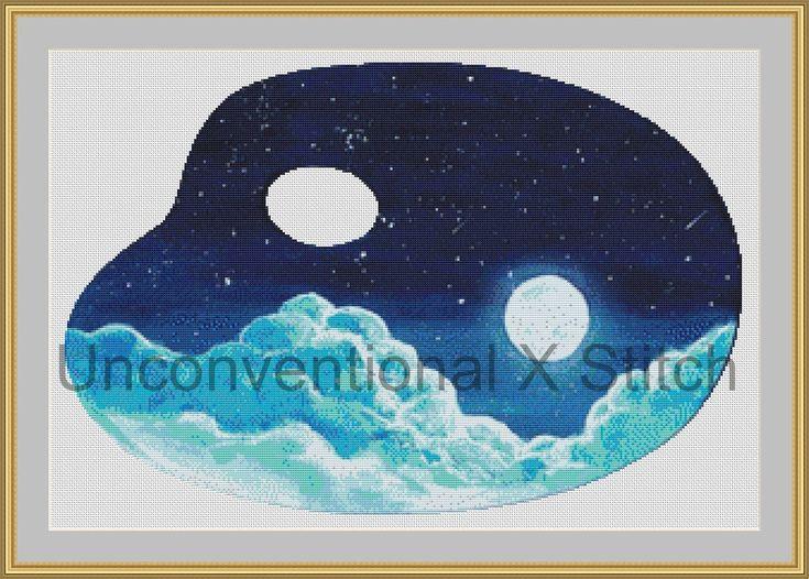 Moonlight Palette cross stitch pattern - Licensed Karita Smevag Halten by UnconventionalX on Etsy