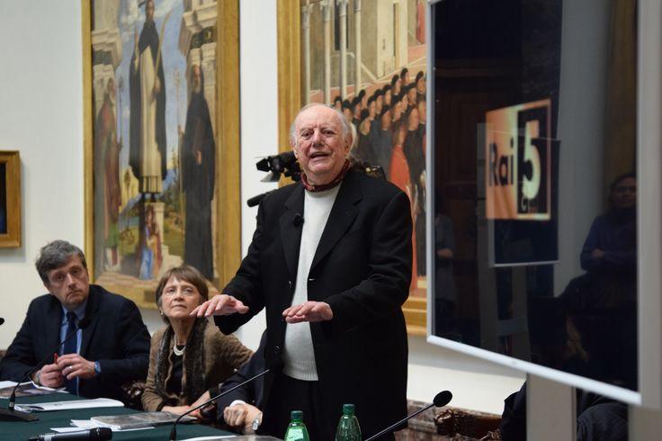 Grazie a Rai5 e Dario Fo per aver tenuto la conferenza stampa alla Pinacoteca di Brera #art #museum #brera #pinacotecabrera