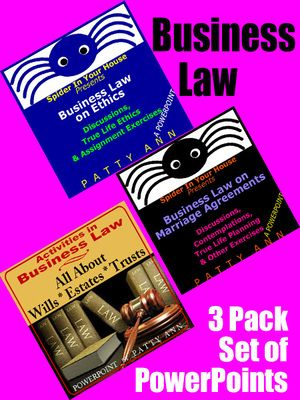 Great Bundle Packed for $avings! 3-Pack introduction to Ethics, Partner Contracts, Wills, Estates, Trusts + More. Includes: *Activities *Discussions *Knowledge Checks *Real Life Scenarios!