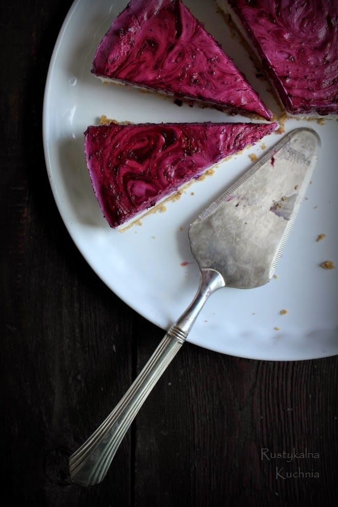 Black Currant Cheesecake | Rustykalna Kuchnia