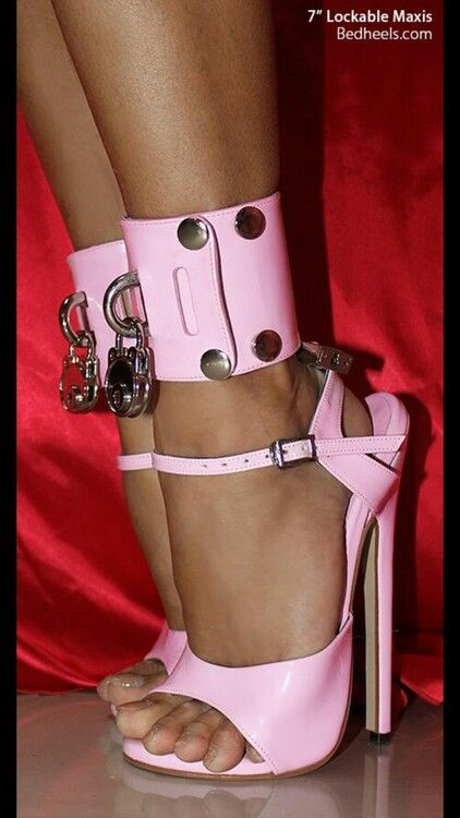 High Heel Pink Shoes Locking