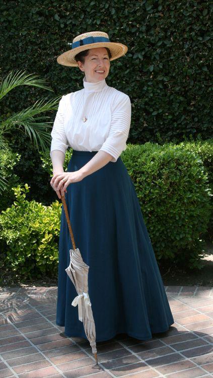 Blue Wool Skirt 1