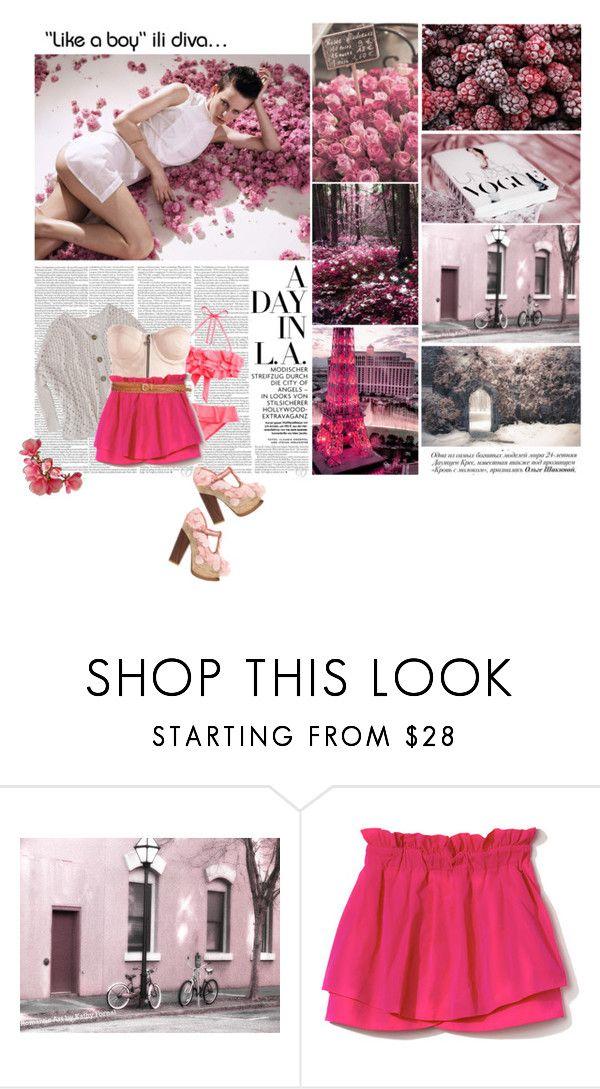 """diva..."" by anka018 ❤ liked on Polyvore featuring Irregular Choice, Pull&Bear, Lipsy, SUNO New York, Linea Pelle, retro swimwear, fringe bikinis, bustier tops, glitter pumps and platform heels"