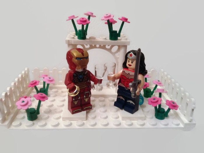 Lego Cake Topper Garden Wedding Arbor Genuine Parts Customised Choose Minifigures And Colours