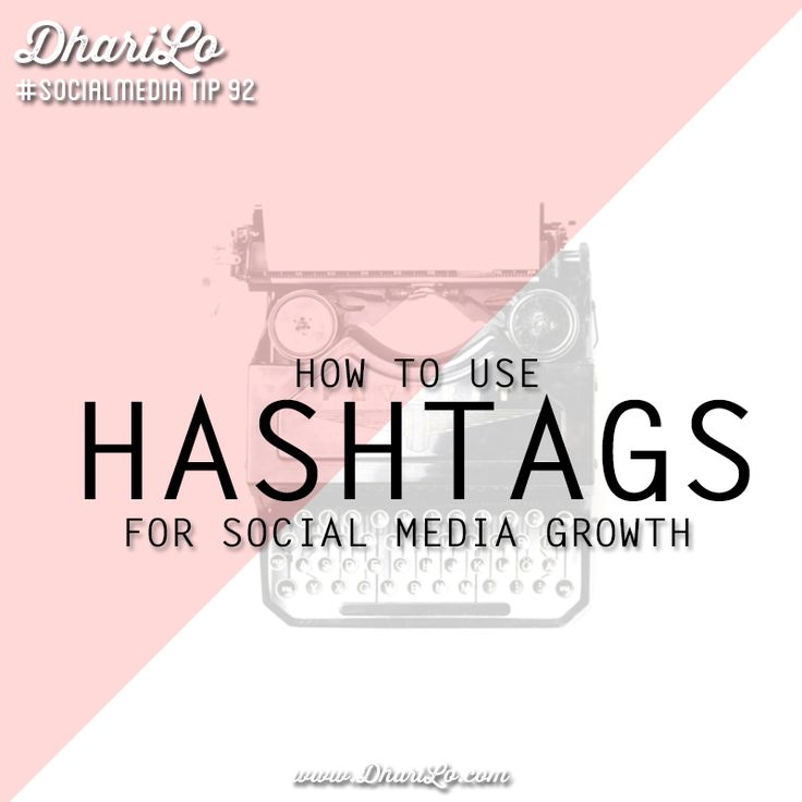 How to Use Hashtags Effectively for Social Media Growth - DhariLo #SocialMedia