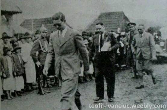 King Mihai visiting Borsa Maramures