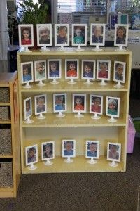 Lobethal Community Kindergarten:  individual child photo on one side, child in group experience on the other.