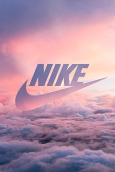 nuage, coloré, Nike, rose, violet, ciel, soleil