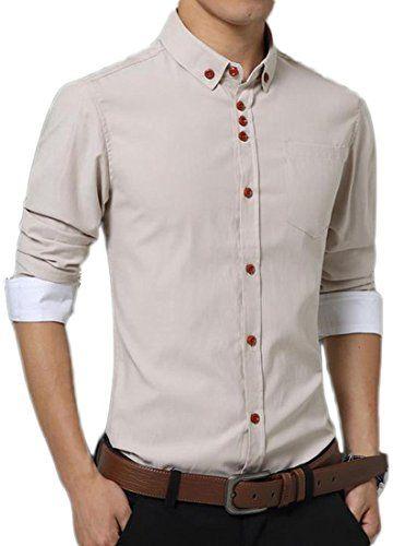 jeansian Men's Fashion Casual Solid Color Slim Fit Shirts... https://www.amazon.com/dp/B01MSORZFR/ref=cm_sw_r_pi_dp_x_RFRmybAQ6CZ1Y