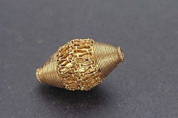 Beautiful Viking gold bead found at the island of Gotland, Sweden. (Historiska Museet)