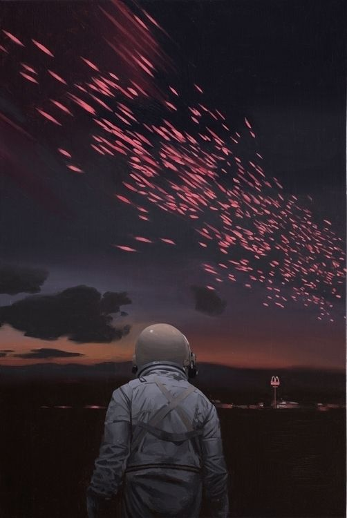 Scott Listfield - Here's another piece from my first museum show at the Lancaster Museum of Art… #art #painting #astronaut