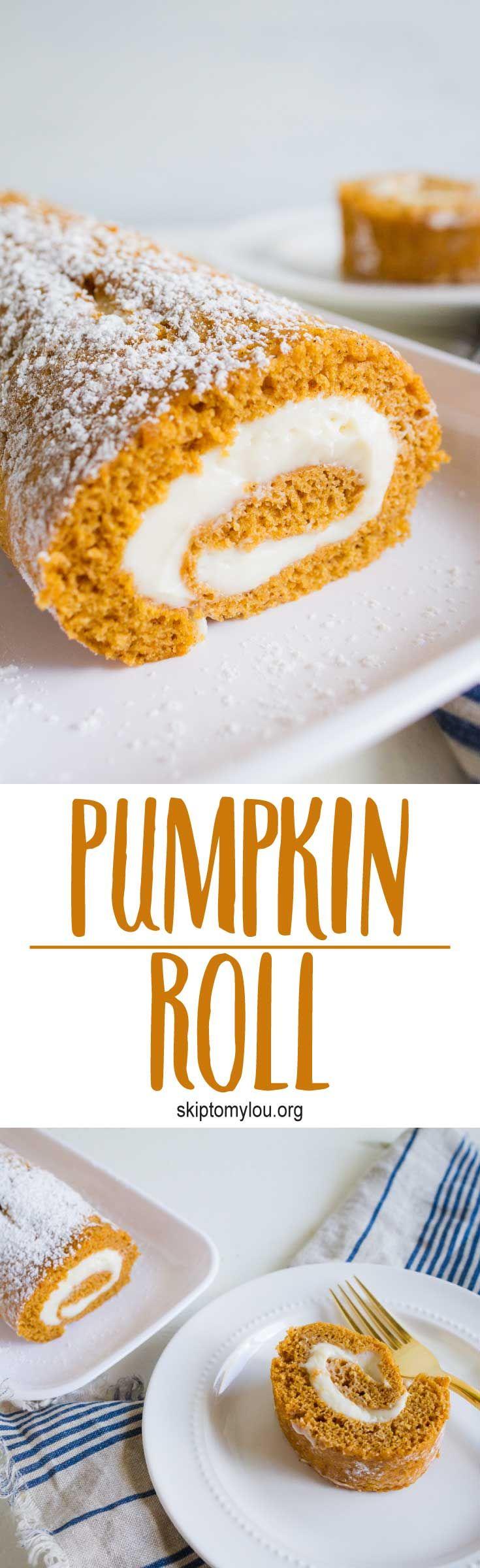 Easy pumpkin roll recipe!