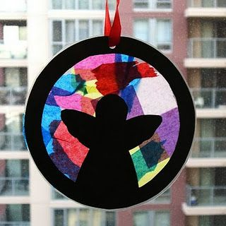 Stained glass ornament project for the kiddos