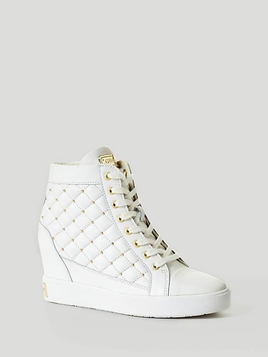 FURR LEATHER WEDGE SNEAKER | GUESS.eu