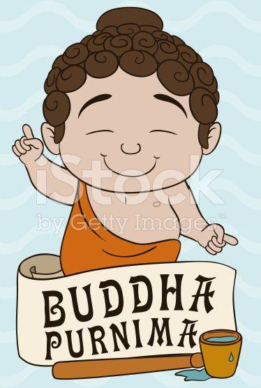 Baby Buddha Ready to Bath Tradition in Vesak