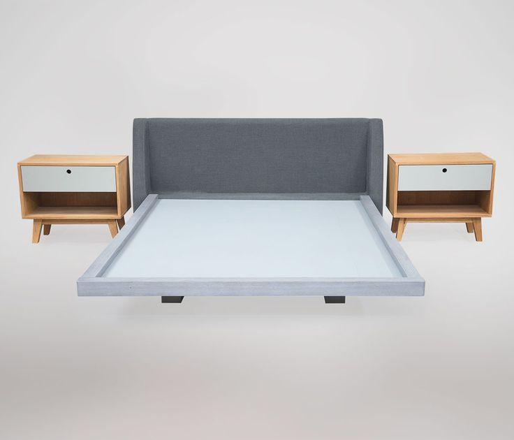 Un set de cama bicolor muy original en: http://www.gaiadesign.com.mx/set-exo-cama-matrimonial-y-buros-gris.html