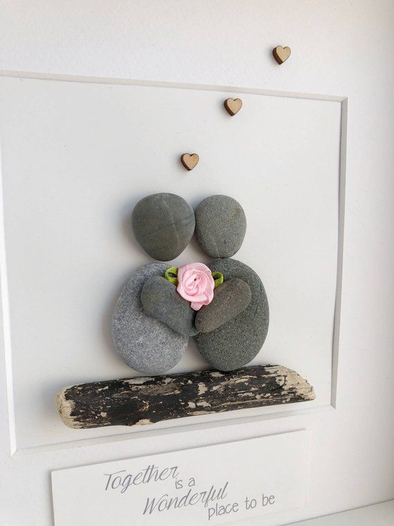 Framed Pebble Art, Mother Pebble Art , Mothers Gift, Friends Pebble Picture, Mother's Day Gift, Mothers Day Gift personalised, Birthday Gift –