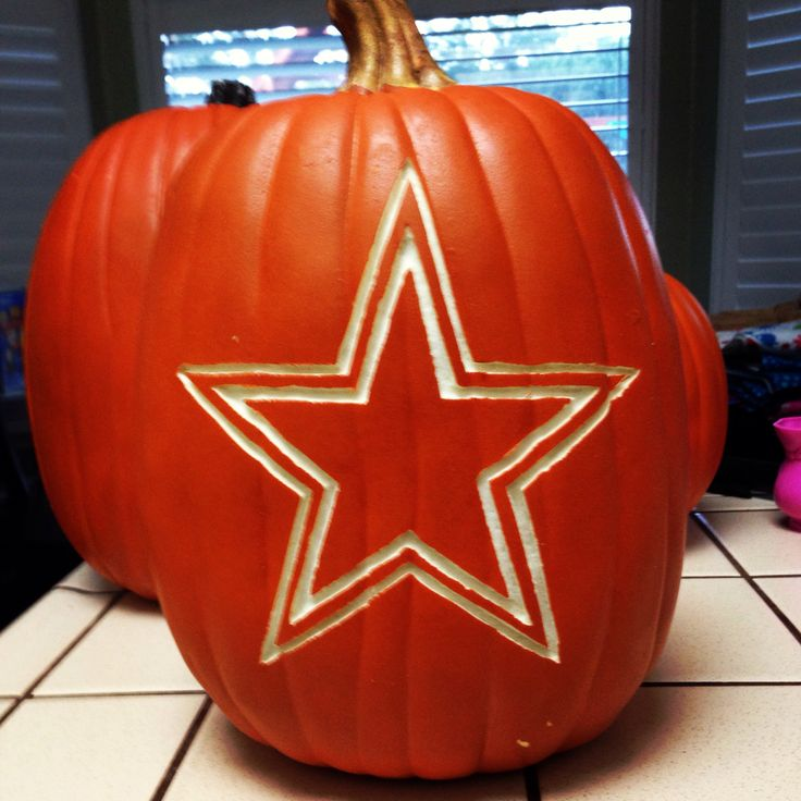 Carved foam pumpkin dallas cowboys