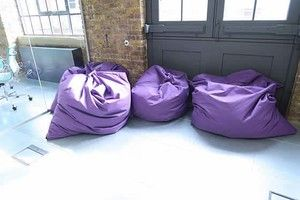 Purple Bean Bags - (has our client's company logo printed on so only £39 eack + Vat