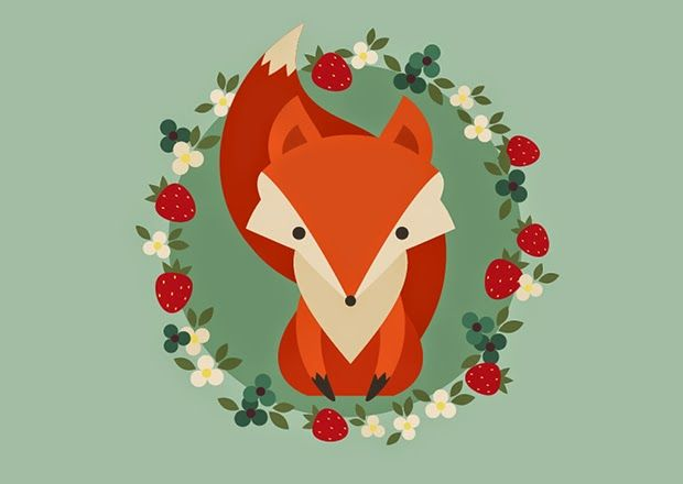 Como criar uma ilustração retrô de uma raposa ~ De volta ao retrô