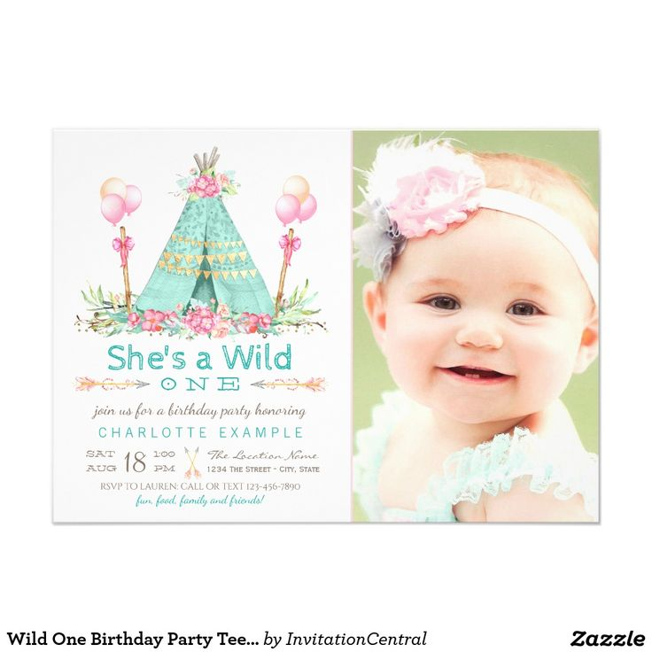 156 best First Birthday Invitations Ideas images on Pinterest ...