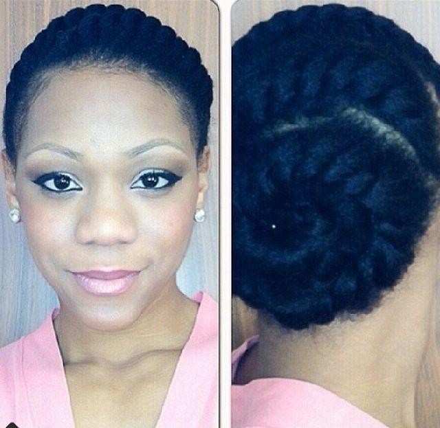 Hair braiding. Natural hair styles