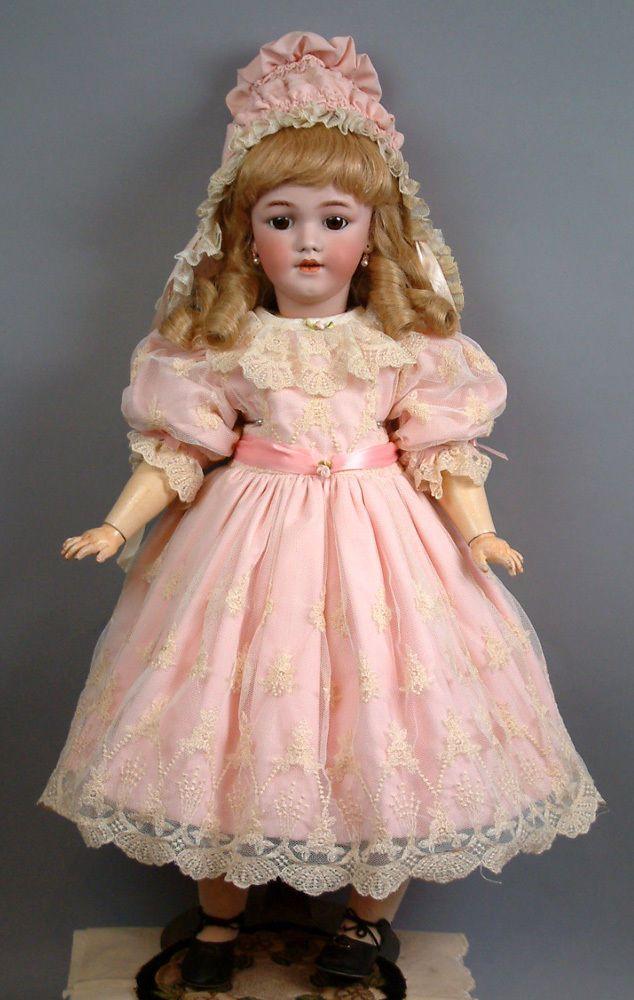 "Superb 27"" Simon Halbig 1249 ""Santa"" Antique Doll 4 French Trade c1900 Must C…"