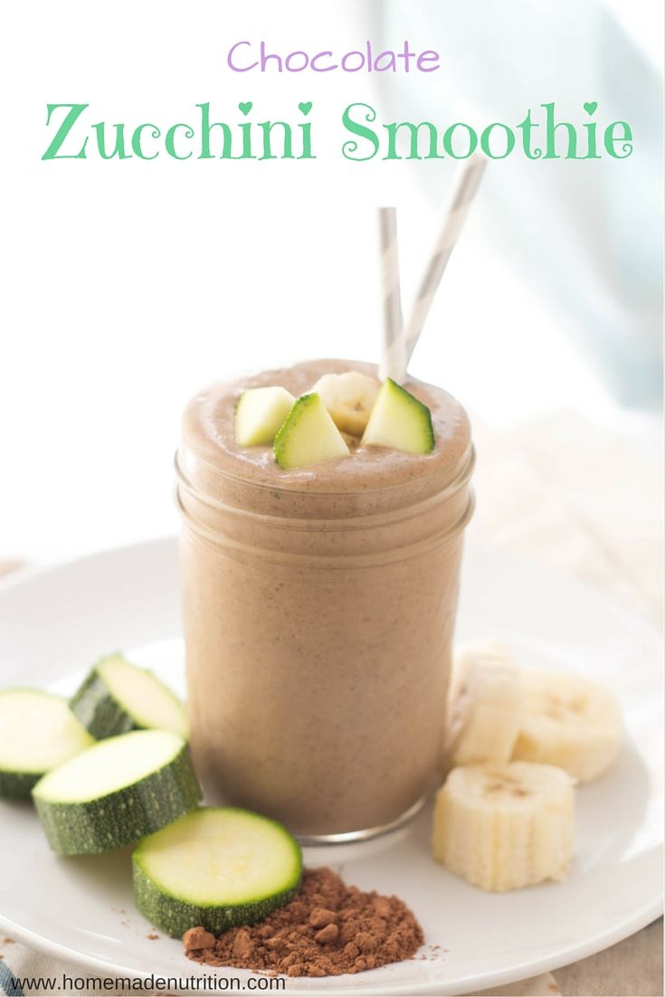 This creamy chocolate peanut butter smoothie with zucchini is a healthy way to start the day with a serving of veggies!  This recipe is gluten free, vegetarian, and absolutely delicious!