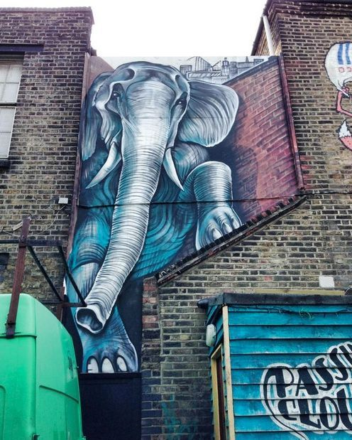 Elephant street art