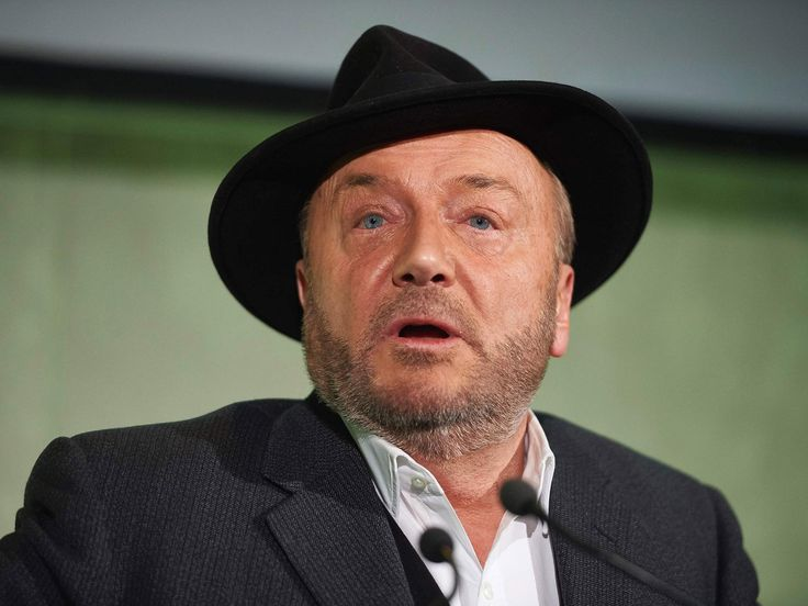 George Galloway pelted with glitter by student protesters during Aberdeen university lecture - The Independent